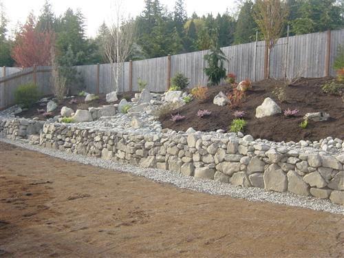 We Added An Extensive Drainage System, A New Retaining Wall, Several Dry  Creekbeds, Large Granite Rock Stairs Leading To A Granite Rock Patio And  New ...